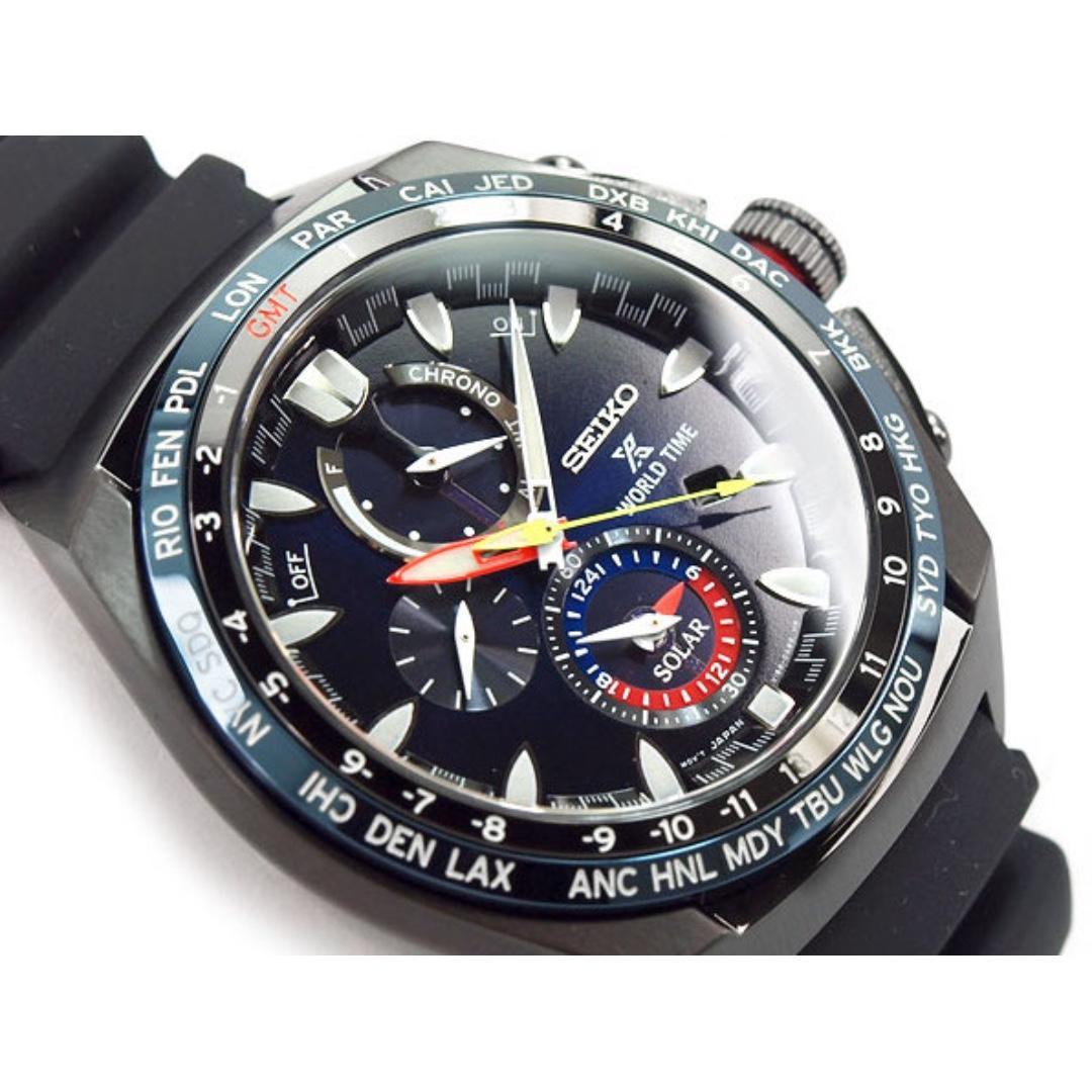 精工 SEIKO Prospex Sea GMT Chronograph SSC551P1 World Time SOLAR 光動能 100M 防水 SSC551-P1