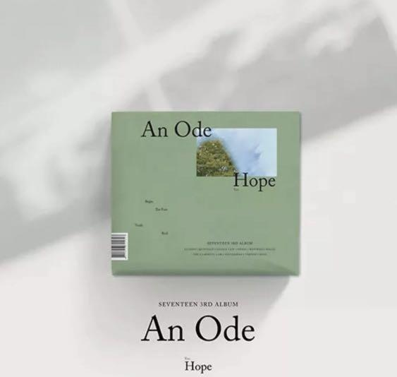 [AN ODE] SEVENTEEN 3RD ALBUM [HOPE VER]-1 DISC CD+PHOTO BOOK+1 PHOTO STICKER