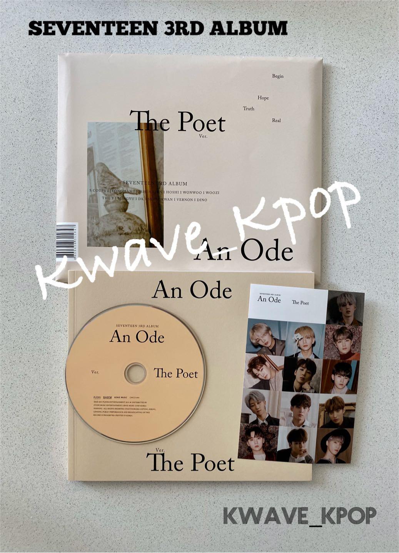 [An Ode] SEVENTEEN 3RD ALBUM [The Poet Version] - 1 Disc CD + 1 Photo Book + 1 Sticker