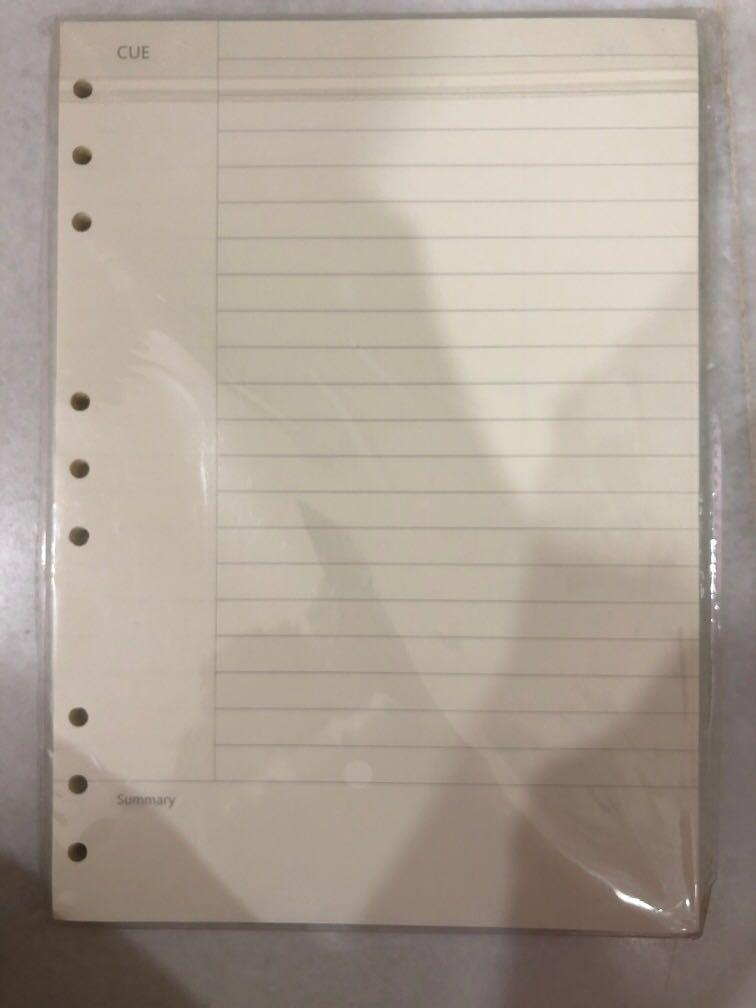 B5 ring notebook refill paper