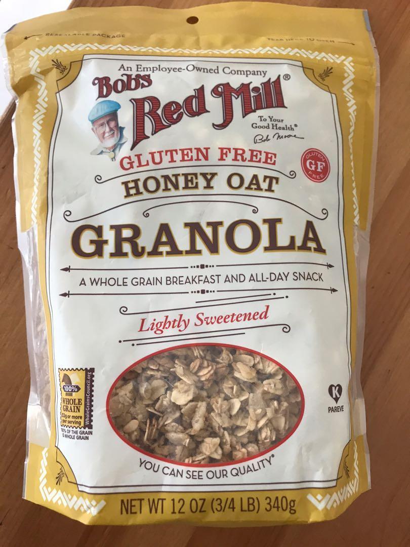 Bobs red mill honey oats Granola 340gms