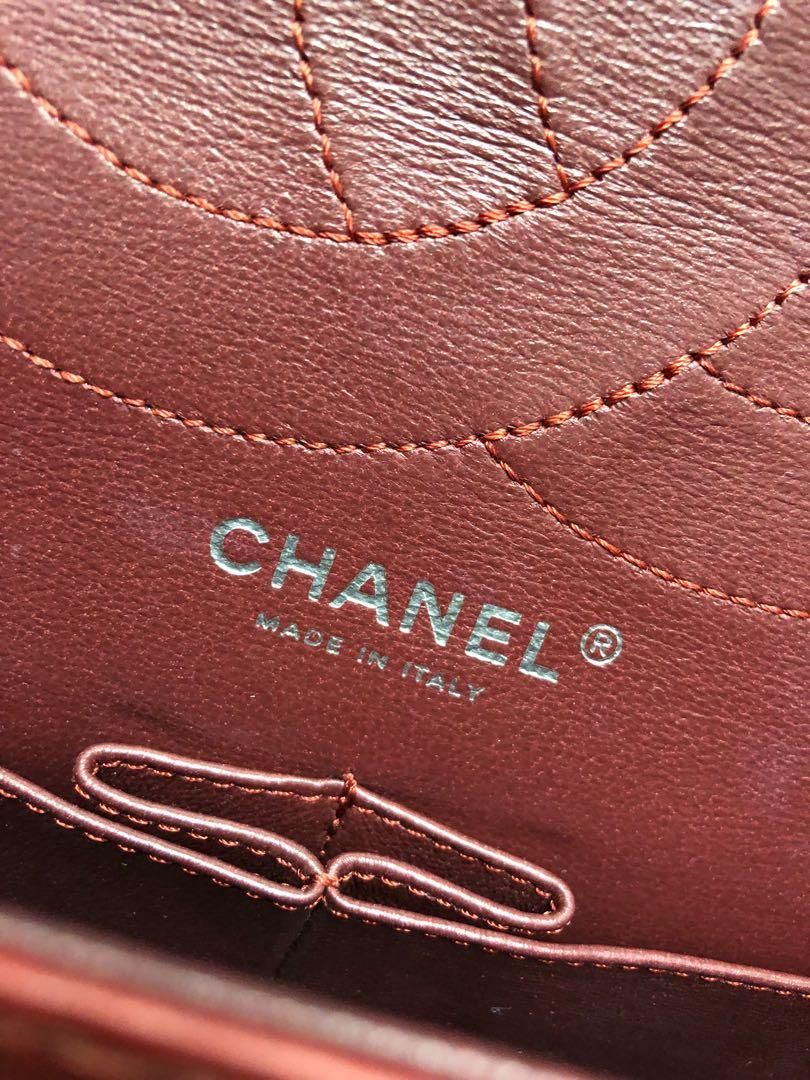 Chanel Dark Red Quilted Lambskin 2.55 Reissue 227 (jumbo) Double Flap Bag