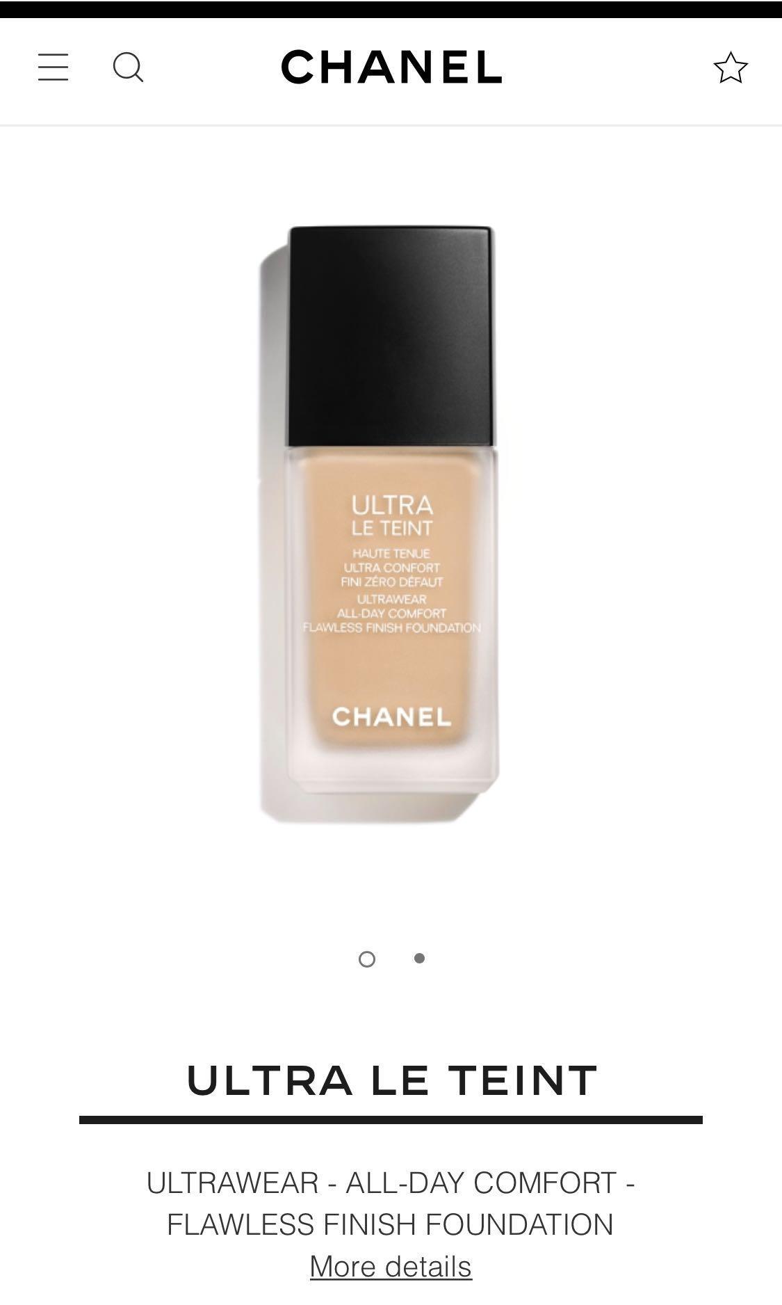 Chanel ultra Le teint foundation b30 ultrawear flawless finish