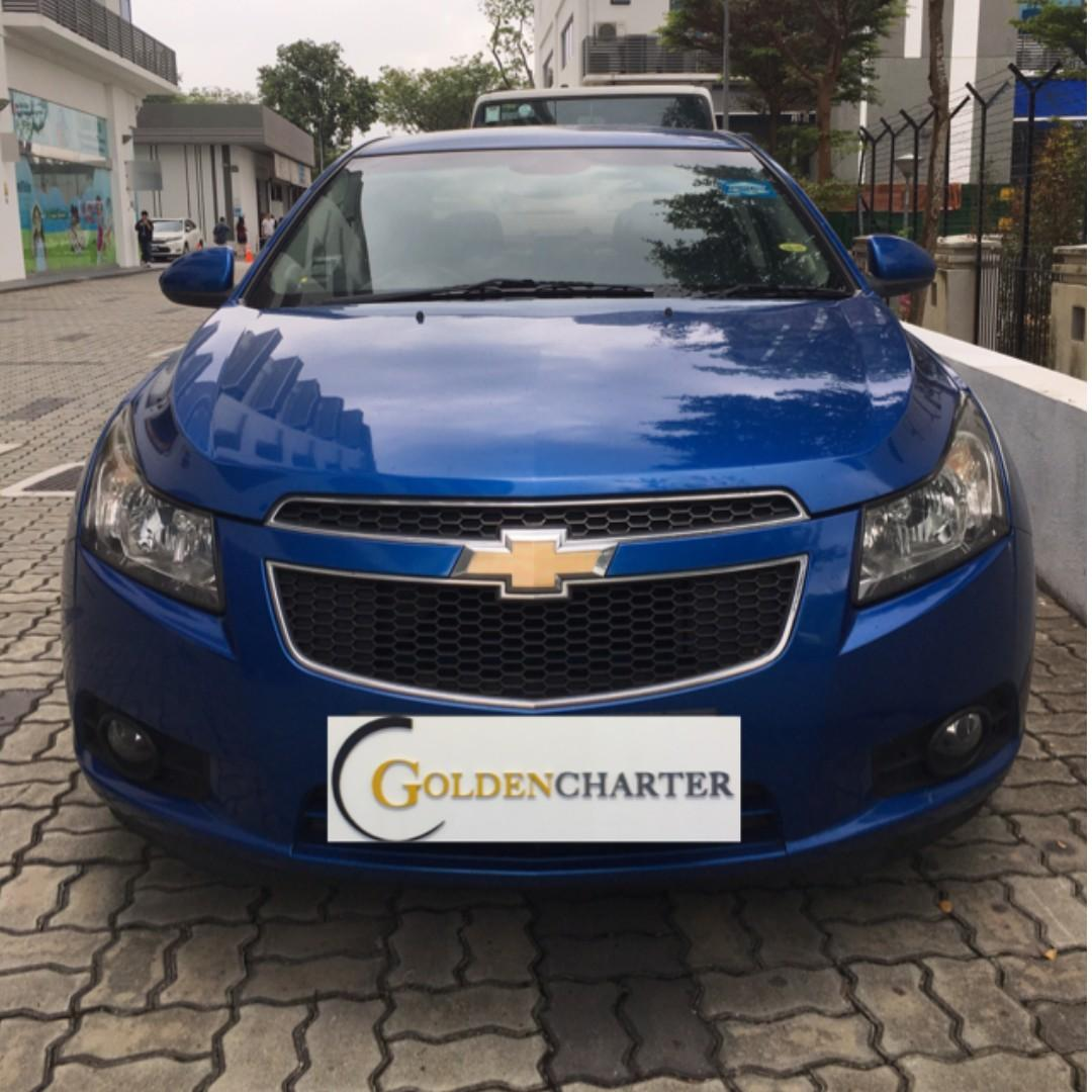 Chevrolet Cruze For Rental, Weekly Rental Rebate . Low deposit of $500 driveaway, NO upfront rental required. Personal|Gojek|Grab|TADA|Ryde