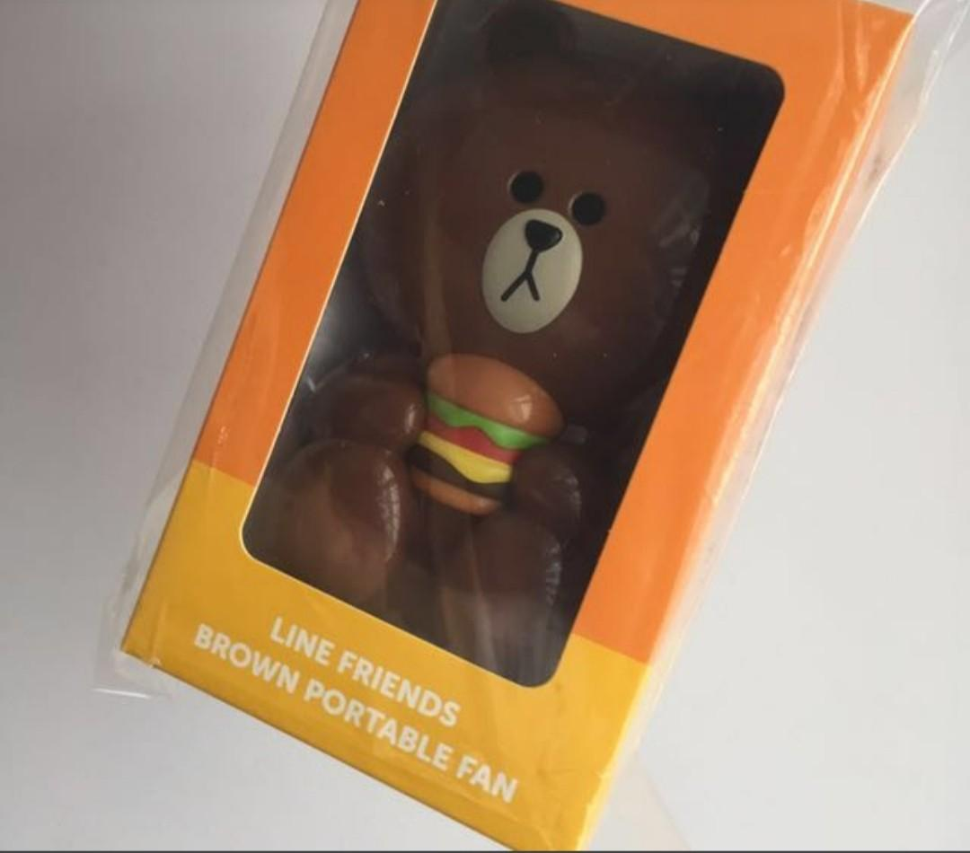 Clearance: Brown Bear Fan(LINE series)