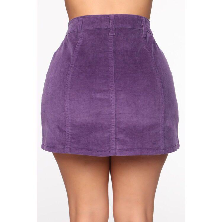 FASHIONNOVA purple cord skirt in SIZE 27  NEW with tag  fits AU 8 and 10 ☺️