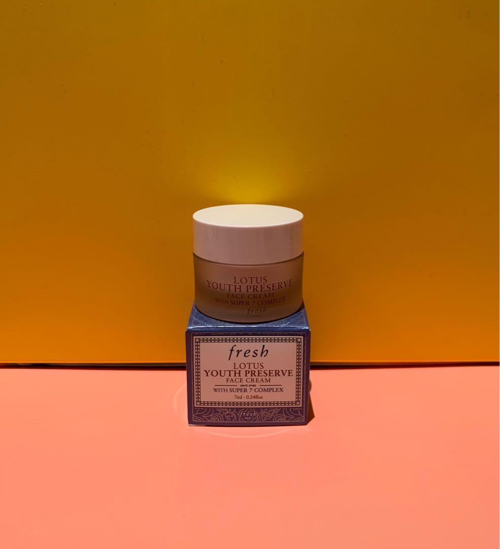 Fresh - Lotus Youth Preserve Face Cream With Super 7 Complex - Travel Size 7ml