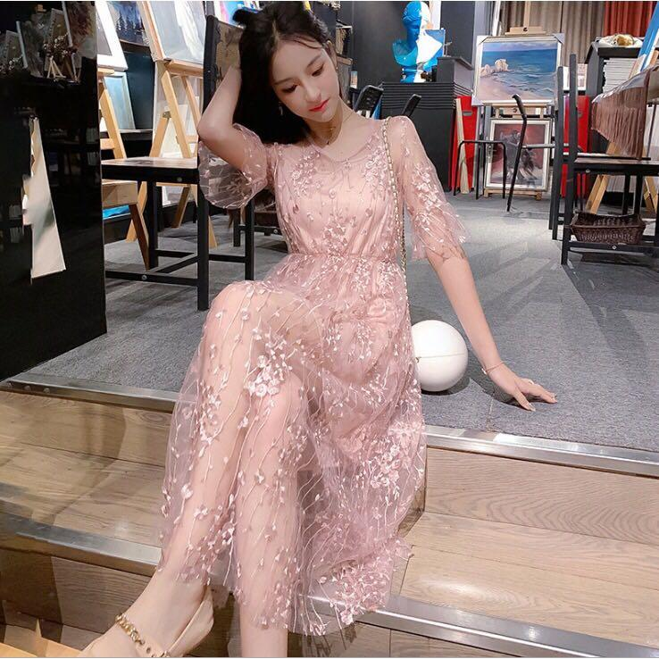 Lace dress korea elegen