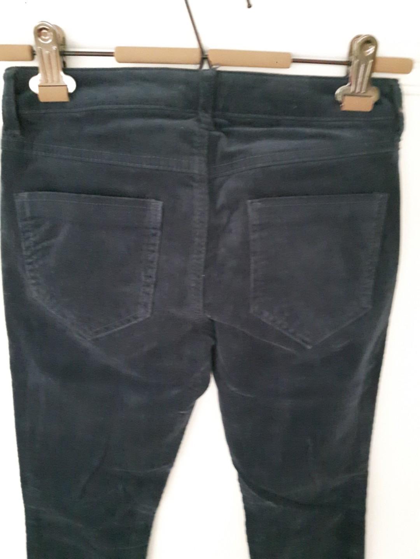 LOWERED-Low-Mid Waist Dark Indigo Blue  Corduroy Pants Size Small
