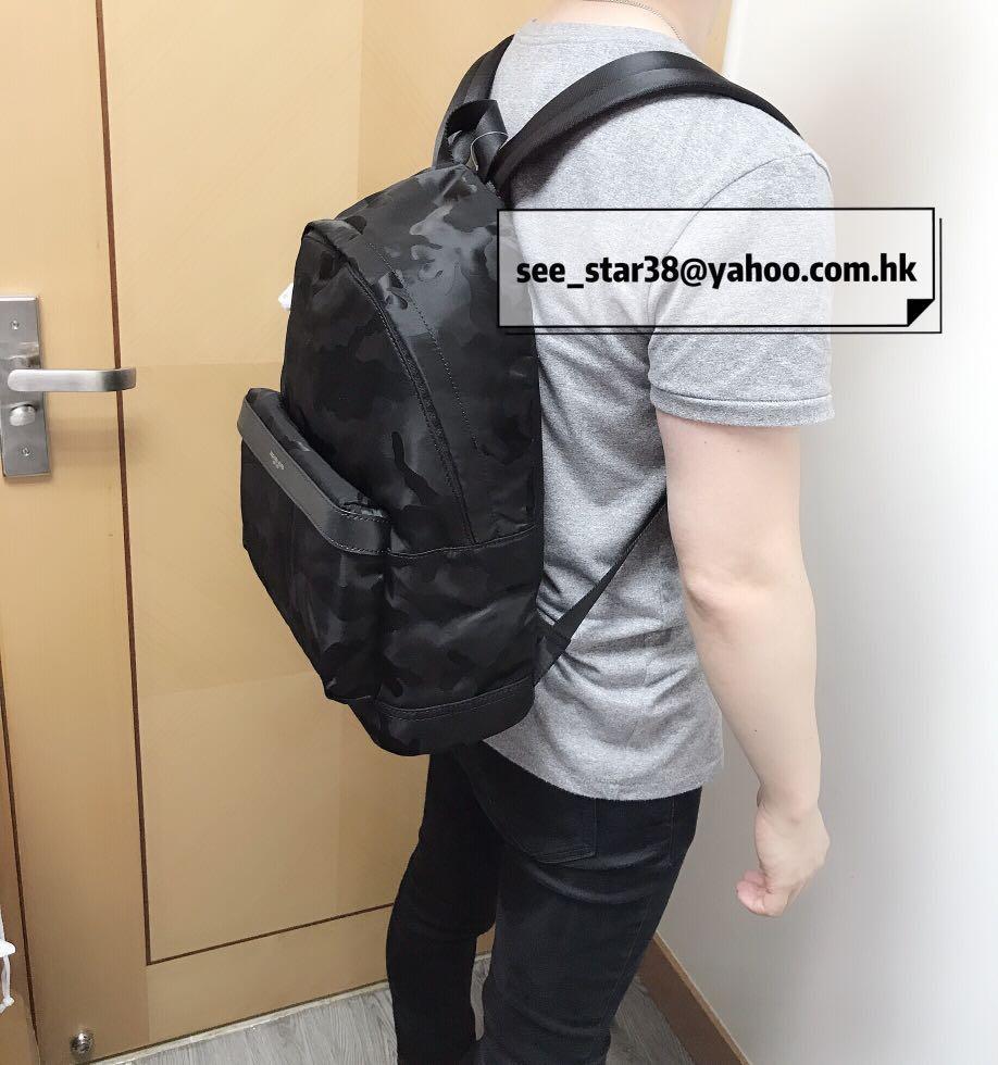 MICHAEL KORS Kent Camouflage Nylon Jacquard Backpack 男裝迷彩尼龍背囊/背包  有2個色 大熱色 黑色/深藍色