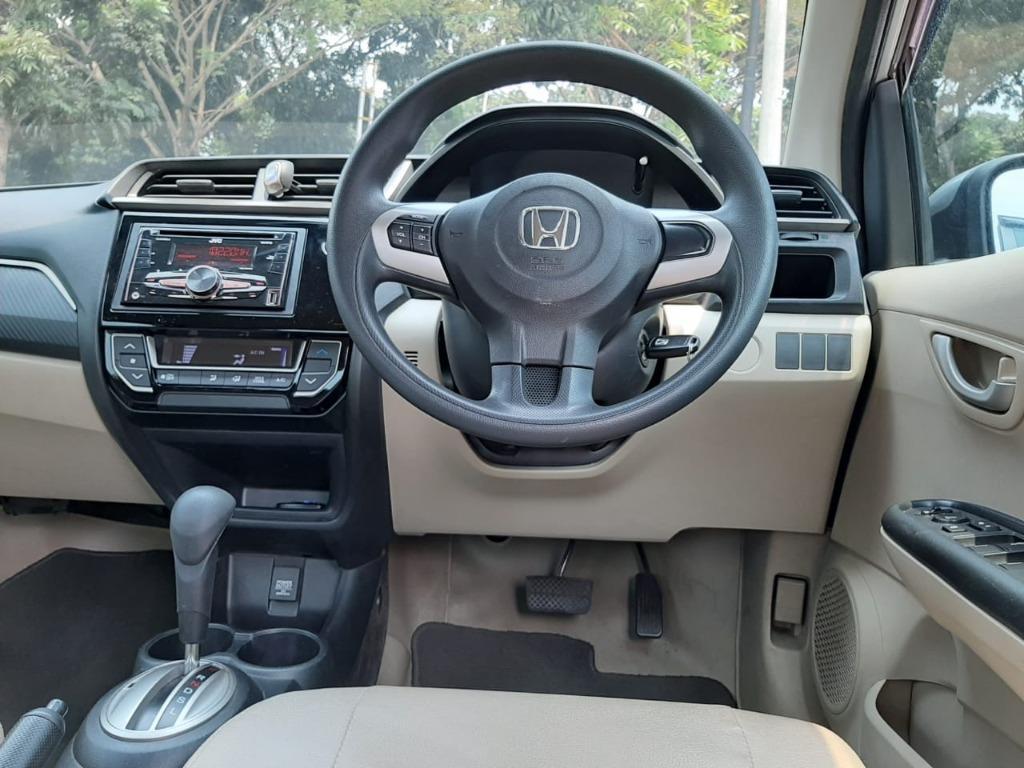 New Honda Brio E 1.2 AT 2017 Silver Dp 23,9 Jt No Pol Genap
