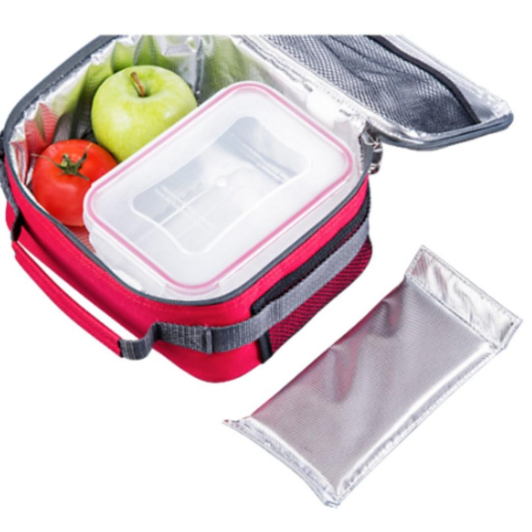 NEW Lamart Cooler Bag With Gel Ice Pack (Red) 1.1L