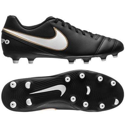 Nike Tiempo Rio III FG Football Boots - Black/White - Size 7
