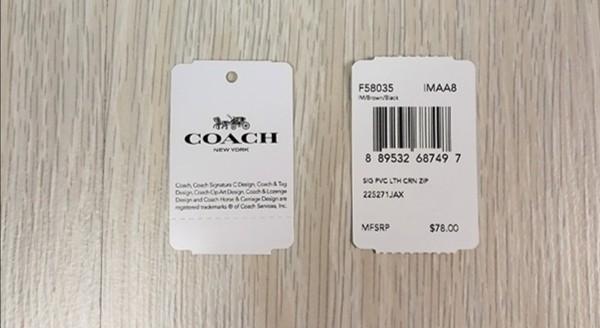 [ORIGINAL FROM USA] AUTHENTIC COACH SIGNATURE LOGO ZIP WRISTLET F58035 #carousellbelanja