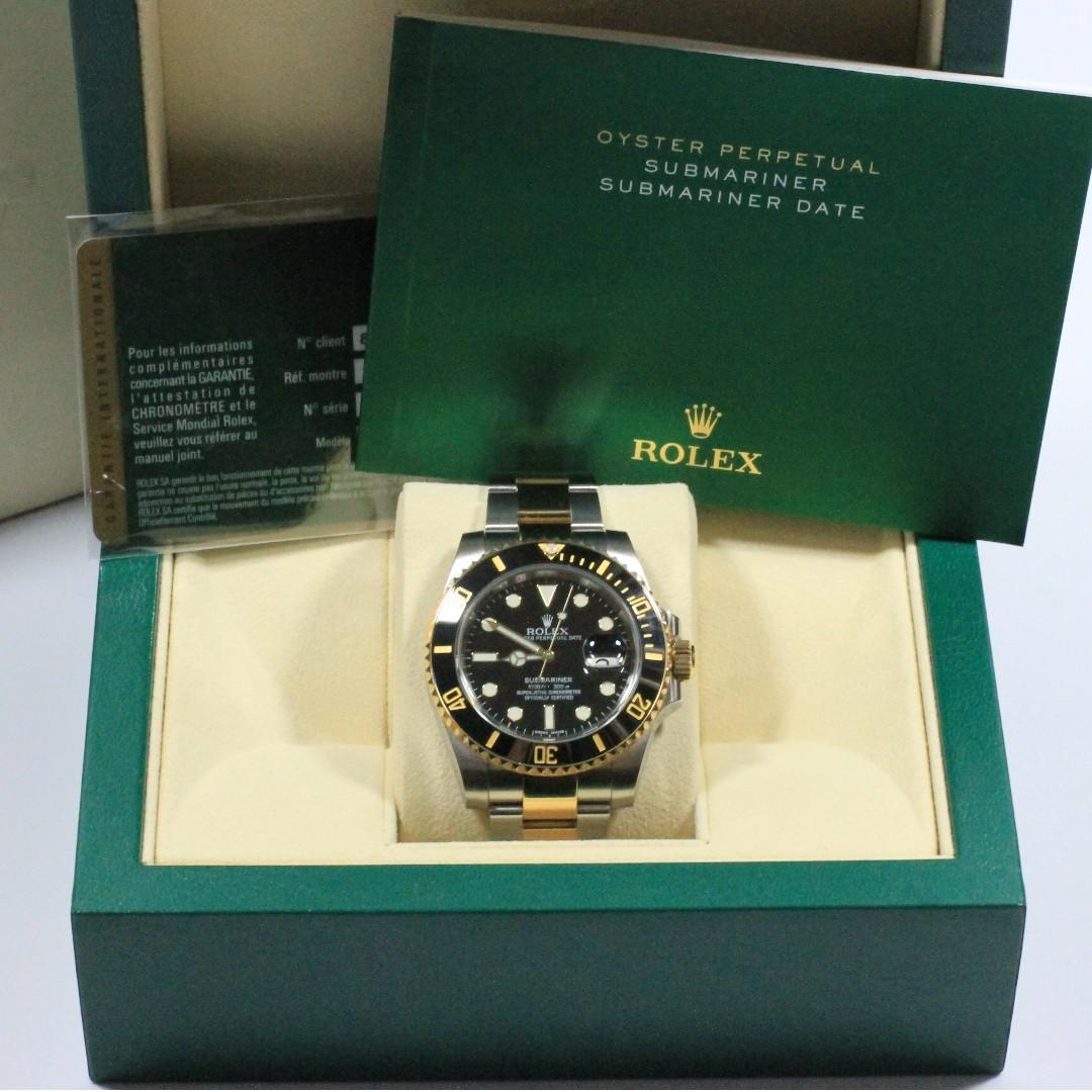 Rolex Submariner 40mm Half Gold 116613LN(Box/Cert)