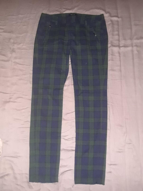 Smart Set blue green plaid pants size 4 (small) #SwapCA