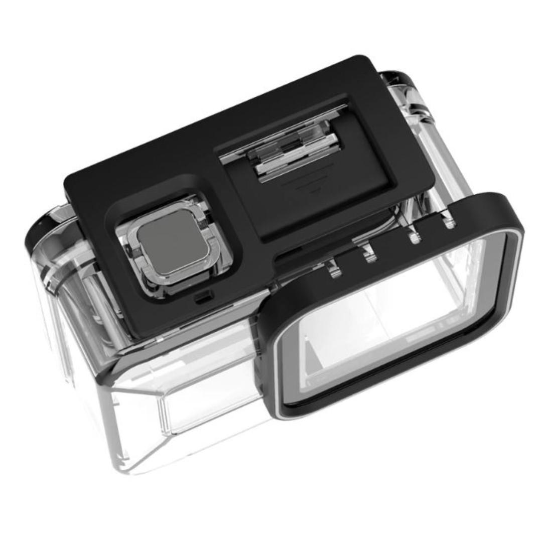 TELESIN 40M Underwater Housing Case Waterproof Cover for Gopro Hero 8 Tempered Glass Lens Cover Transparent Camera Accessories
