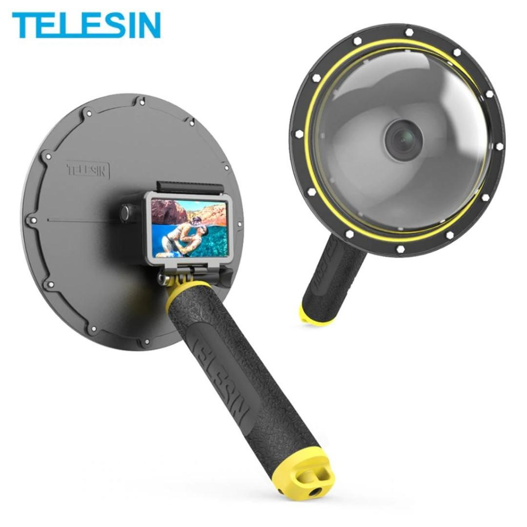 "TELESIN 6"" Dome Port Cover Waterproof Case Housing for DJI Osmo Action *Free Soft Dome Cover*"