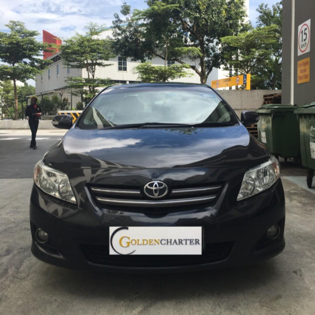 Toyota Altis For Rental, Weekly Rental Rebate . Low deposit of $500 driveaway, NO upfront rental required. Personal|Gojek|Grab|TADA|Ryde