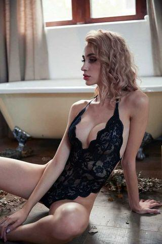 *FREE SHIPPING* Ready Stock Sexy Scallop Edge Lace Lingerie size S/M