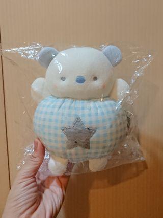 麗嬰房代購 粉藍小熊音樂鈴娃娃 男寶安撫玩具 哆啦A夢主題曲 全新現貨