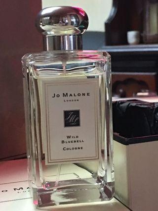 Jo Malone  藍風鈴  Wild Bluebell Cologne   100ml 英國專櫃貨帶回來  附專櫃紙袋、盒子、緞帶,僅試噴幾次,如圖