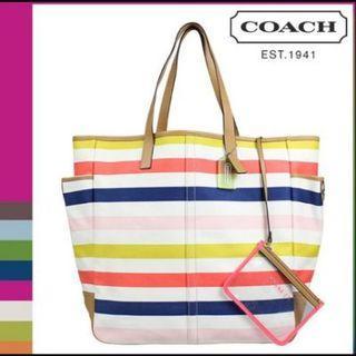 Brand New Coach Hadley Multistripe Tote Bag Handbag Shoulder