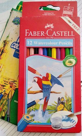 Faber-Castell Watercolour Pencils (Set of 12) + Fraternity Watercolor Pencils (10 pcs)