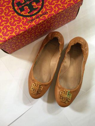 TORY BURCH Melinda Ballet Tumbled Leather (AUTHENTIC)