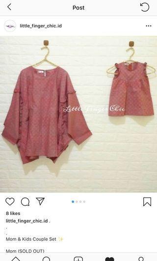 batik menyusui couple mom & baby girl