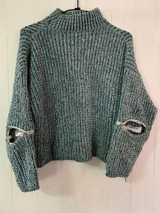 針織半高領毛衣