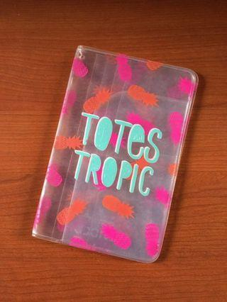 H&M DIVIDED Totes Tropics Clear Travel Wallet (AUTHENTIC)