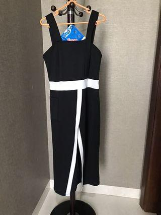 Marcia Dress in black and white
