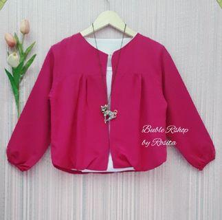 LIKE NEW Bolero Balon Pink Fushia Socking Pink Merah Muda