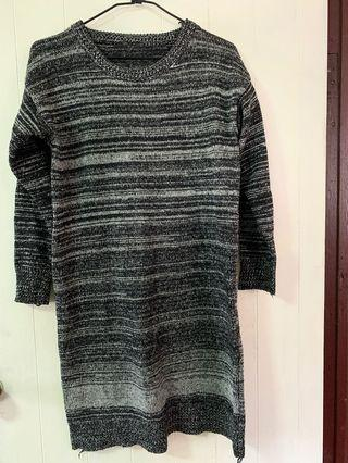 長版及膝針織毛衣