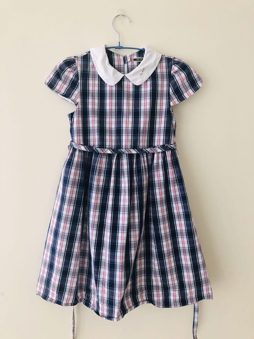 長春藤格子洋裝(140)