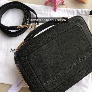 READY STOCK 💯 Authentic Marc Jacobs The Textured Box Bag Mini Black