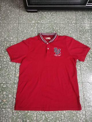 PDI red collard tshirt