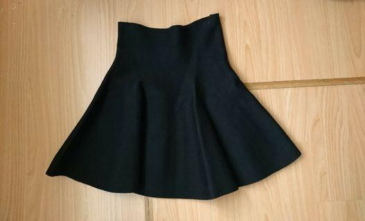 黑色高腰短裙厚質料 二手近全新