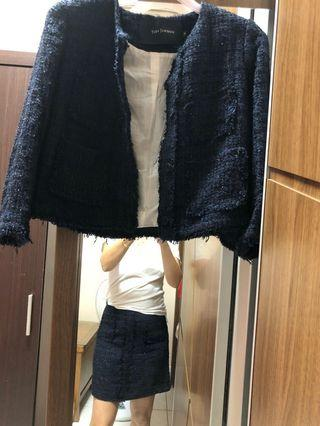 TARA JARMON香奈兒風套裝(外套+裙子)