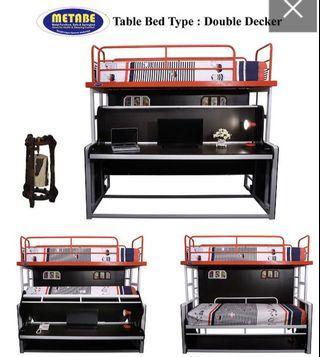 Table Bed Double Decker/Ranjang Susun