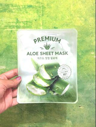 #mauovo Missha Premium Aloe Sheet Mask