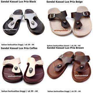 Sandal  Karet Pria Lux Kasual