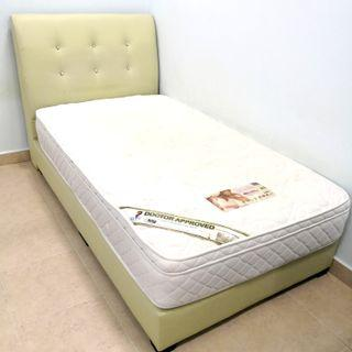 Premium quality Super Single bed rack + spine support latex mattress