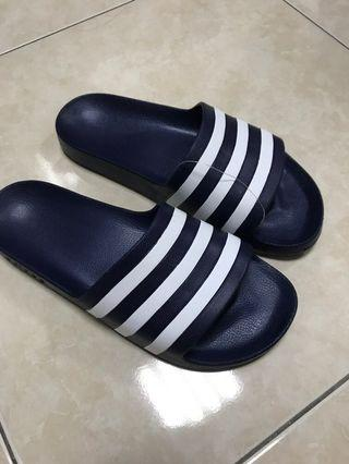 Adiads藍白線條 防水拖鞋27.5cm