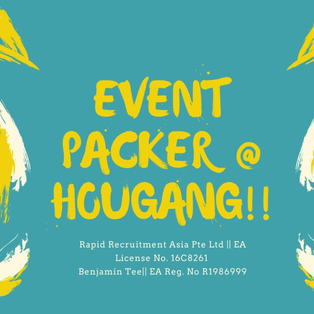 11.11 Event Packer @ Hougang!!! Up to $94/day!!!
