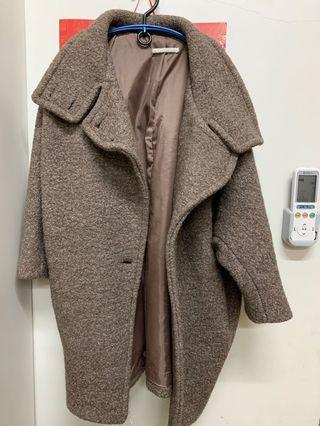 正韓繭型毛呢大衣