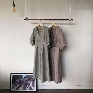 日系棉麻洋裝
