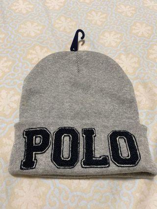 POLO RALPH LAUREN灰色針織帽