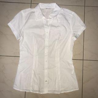 Net 白色短袖襯衫